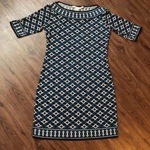 Max Studio Printed Boat Neck Dress Size M